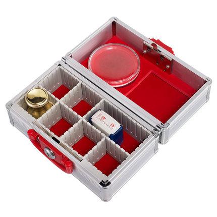 手提公司财务银行专用印章盒子多功能带锁小箱子放章箱公章收纳盒