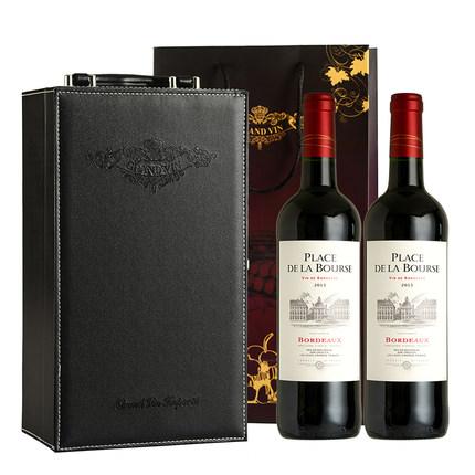 法国原瓶进口红酒礼盒装 波尔多干红葡萄酒礼盒 AOP